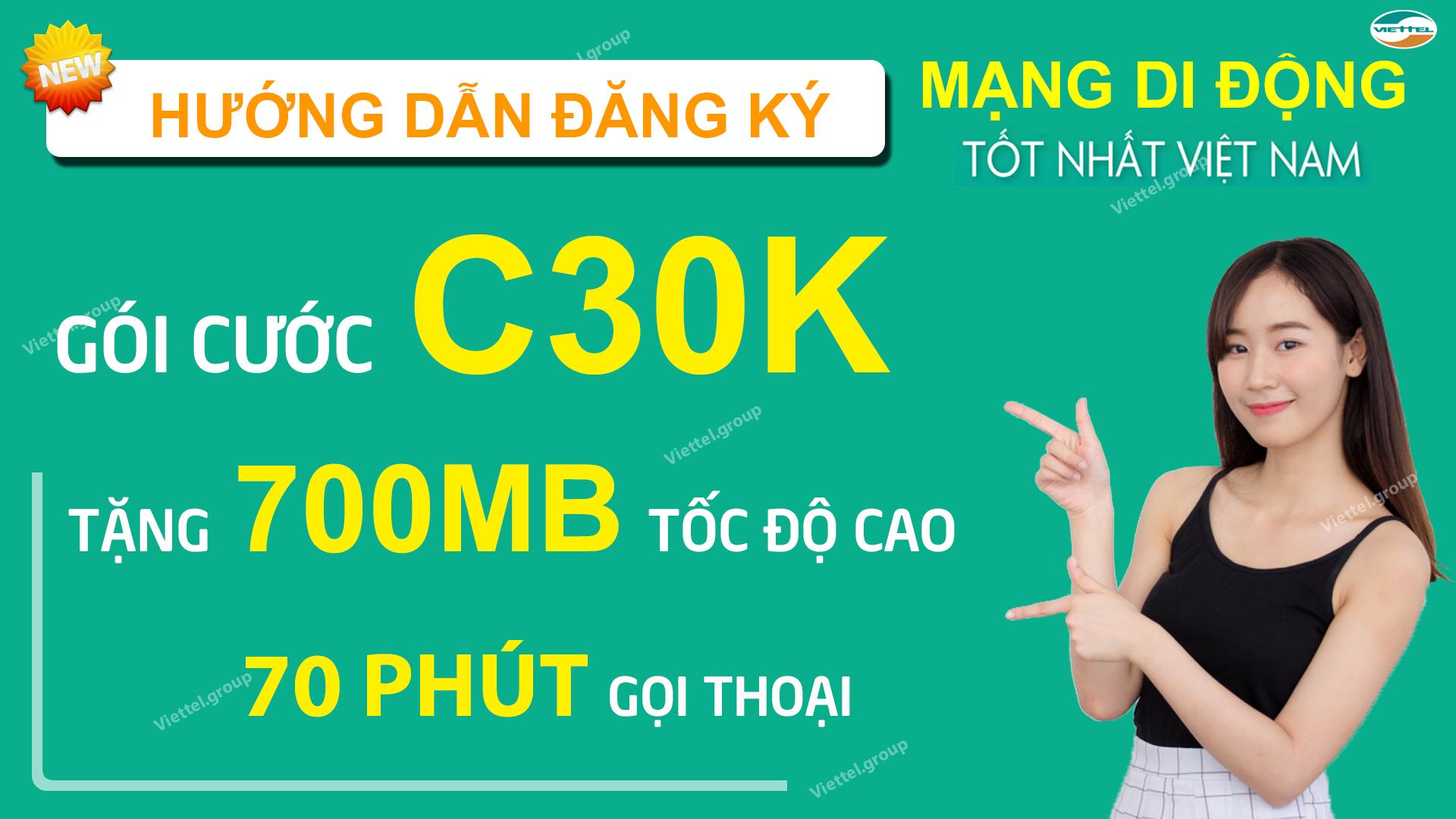 hướng dẫn đăng ký gói C30K Viettel